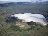 Zuni Salt Lake in a Volcanic Crater, Catron County, New Mexico, USA Photographic Print by Jim Wark