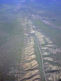 San Andreas Fault and Rift Zone, Elkhorn Plain, California, USA Photographic Print by Jim Wark