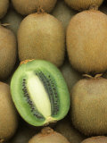 Kiwi (Actinidia Deliciosa) Fruits, One Sliced, Hayward Variety Photographic Print by Wally Eberhart