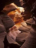 Interior of Lower Antelope Canyon, a Slot Canyon Near Page, Arizona, USA Photographic Print by Adam Jones