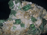 Beryl Crystals, a Variation of Emerald, Muzo Mine, Boyaca, Colombia, South America Photographic Print by Ken Lucas