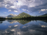 Mt. Rundle and Clouds Reflected on Vermillion Lakes, Banff National Park, Alberta, Canada Photographic Print by Adam Jones