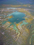 Aerial View of the Carrizo Plain and the Wetlands of Soda Lake, California, USA Photographic Print by Jim Wark