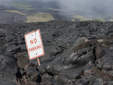 A Road Consumed by Lava on Mount Kilauea in Hawaii Photographic Print by Jon Van de Grift