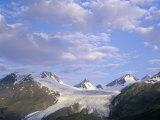 Worthington Glacier and Chugach Mountains, Thompson Pass Near Valdez, Alaska, USA Photographic Print by Adam Jones