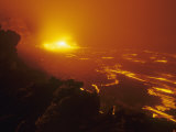 Lava Flow from the Kilauea Volcano Heats Up the Pacific Ocean, Hawaii, USA Photographic Print by G. Brad Lewis
