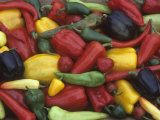 A Variety of Heirloom Sweet Peppers Photographic Print by David Cavagnaro