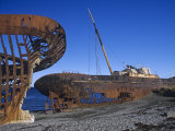 Rusty Shipwrecks in the Straits of Magellan, Chile Photographic Print by James Allan Brown