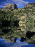 Hallett Peak Reflected on Bear Lake, Rocky Mountains National Park, Colorado, USA Photographic Print by Adam Jones
