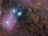 Ngc 6589, Ngc 6590, Ic 1283, Ic 1284, and Ic 4700 Complex Nebulosity in Sagittarius Photographic Print by Robert Gendler