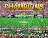 2010 Ohio St. Buckeyes Rose Bowl Champions Celebration Photo