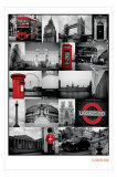 Collage van Londen Poster