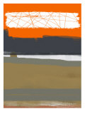 Abstract Orange 1 Poster by  NaxArt