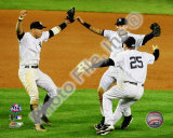 Derek Jeter, Mark Teixeira, and Alex Rodriguez Game Six of the 2009 ALCS Photo