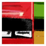 Red and Green Square Print by  NaxArt
