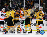 Johnny Boychuk, Mark Recchi, David Krejci,Patrice Bergeron, & Derek Morris Celebrate Recchi's Goal  Photo