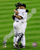 Jorge Posada & Mariano Rivera Game Six of the 2009 ALCS Foto