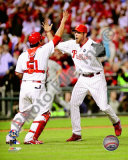 Brad Lidge &amp; Carlos Ruiz Celebrate 2009 NL Championship Photo