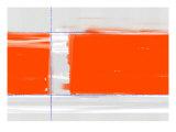 Orange rektangel Posters af NaxArt