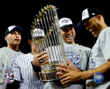 Andy Pettitte, Jorge Posada, Derek Jeter, & Mariano Rivera Game Six of the 2009 MLB World Series Foto