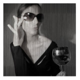 Loren with Wine Premium Giclee Print by  NaxArt
