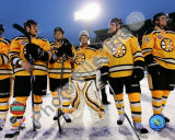 The Boston Bruins Post-Game Lineup 2010 NHL Winter Classic Photo