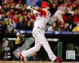 Chase Utley 2009 MLB World Series 3 Run Home Run Photo