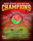 2010 Ohio St. Buckeyes Rose Bowl Champions Overlay Photo