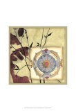 Printed Moonlit Rosette I Prints by Jennifer Goldberger