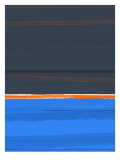 Stripe Orange Poster von  NaxArt