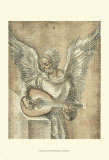 Angel with Lute Prints by Albrecht Dürer