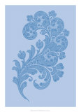 Porcelain Blue Motif II Affiche