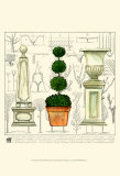 Garden Topiary Print by Ginny Joyner