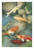 Reflecting Koi I Giclee Print by Megan Meagher