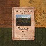 Chardonnay Wine Label Print by Shawnda Eva
