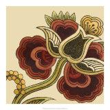 Paprika Floral I Art by Erica J. Vess