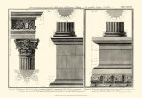 Cornice Tempio di Vesta Prints by Giovanni Battista Piranesi