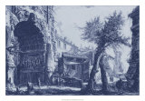 Antique Blue View II Plakater af Giovanni Battista Piranesi