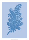 Porcelain Blue Motif IV Posters