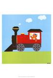Circus Train I Poster von Erica J. Vess