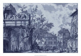 Antique Blue View I Giclée-tryk af Giovanni Battista Piranesi