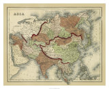 Antique Map of Asia Giclee Print
