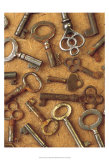Antique Key Collage Láminas