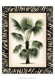 Palm in Zebra Border II Print