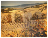 Autumn Vineyard Print by Silvia Rutledge