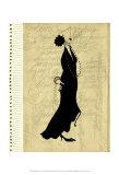 Flapper Fashion II Poster by Elissa Della-piana
