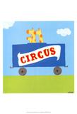 Circus Train II Kunstdrucke von Erica J. Vess