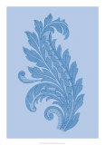 Porcelain Blue Motif III Affiches