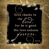 Give Thanks Poster tekijänä Jennifer Pugh