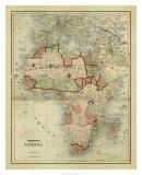 Antique Map of Africa Giclée-tryk